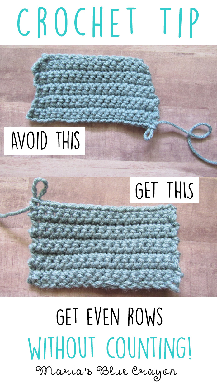 Crochet Tip: Get Even Rows Without Counting