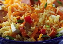 Salada de arroz com salsinha