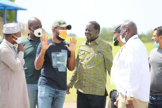 ODM leader Raila Odinga in Msambweni