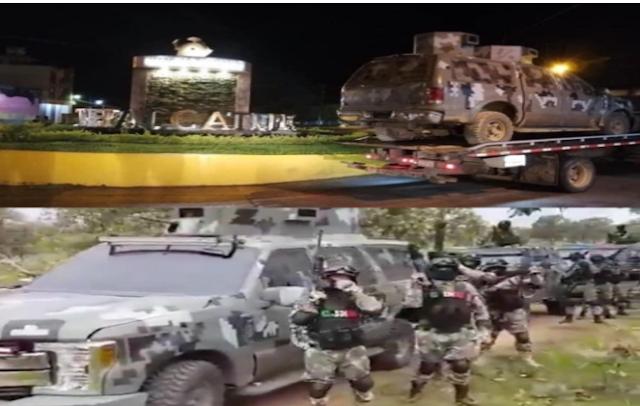Ya cayó la primera blindada del CJNG, tras enfrentamiento contra Cárteles Unidos en Tepalcatepec, Michoacán aseguraron la camioneta usada por el grupo Elite del CJNG en un video en días pasados