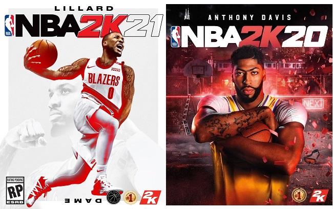 NBA 2K21 vs NBA 2K20 Cover Star