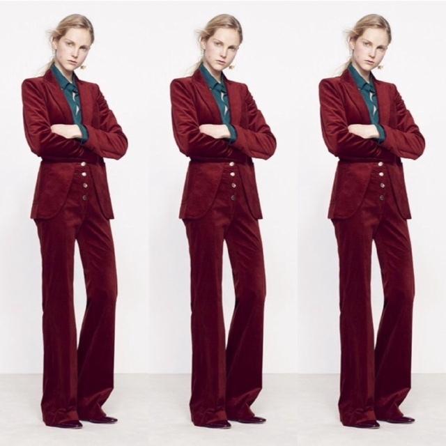 Vanessa Bruno velvet suit