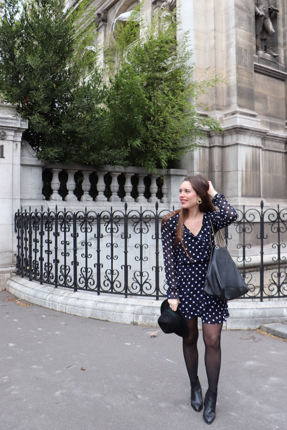 look robe à pois H&M 3