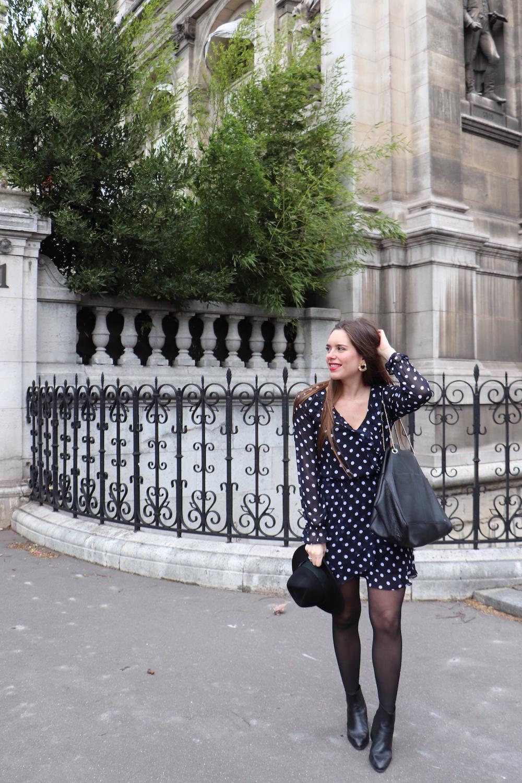 look robe à pois H&M 3