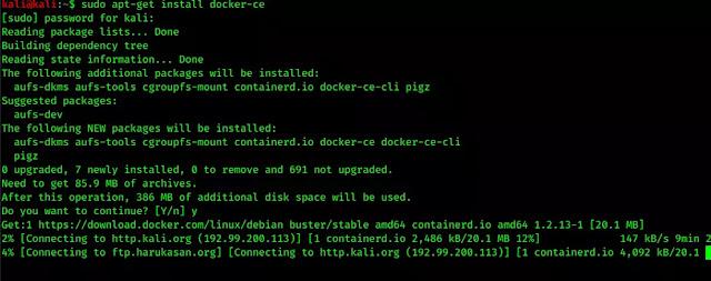 installing docker-ce