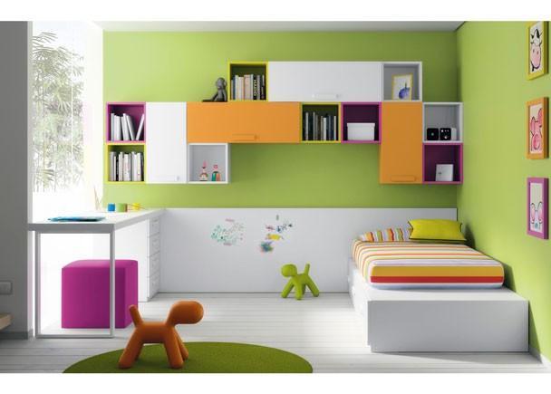Cuartos juveniles para ni os y ni as - Habitaciones en espacios reducidos ...