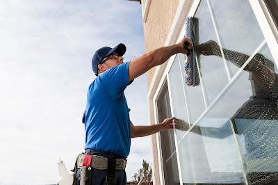 La limpieza de ventanas
