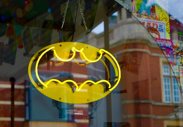 Batman neon sign in Bristol