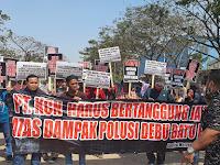 Koalisi Masyarakat Jakarta Utara Lakukan aksi di Pekabuhan PT karya Citra Nusantara