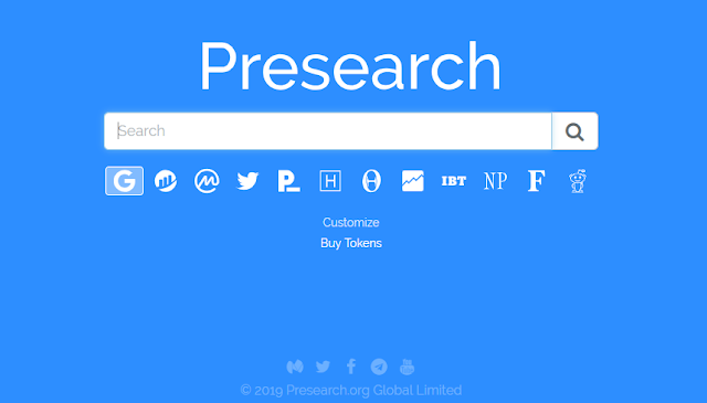Presearch - get paid to search the web
