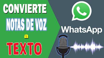 Convierte notas de voz a texto en tu whatsapp
