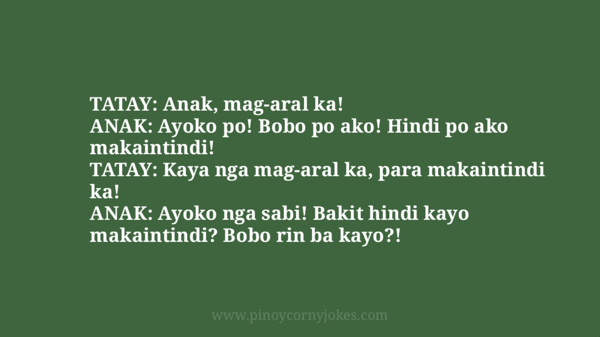 mag aral ka pinoy corny jokes school