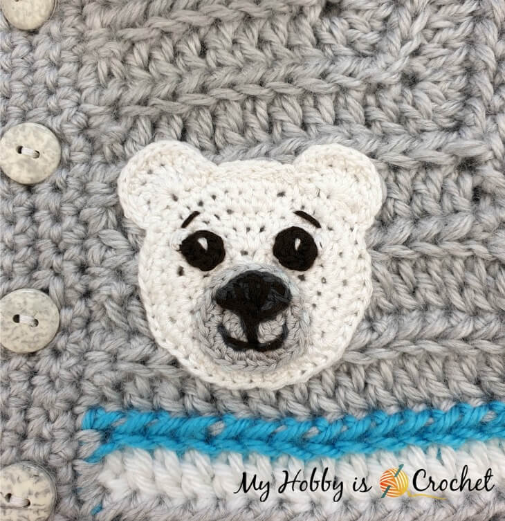 Crochet Bear Appliques
