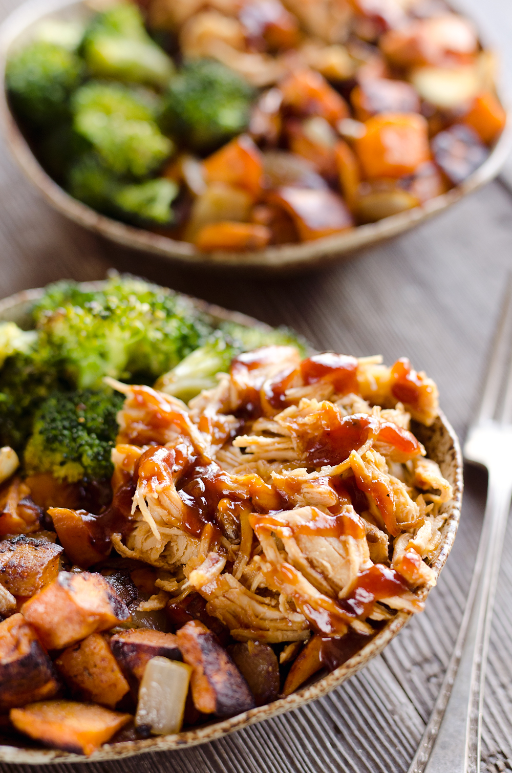 Best BBQ Chicken & Roasted Sweet Potato Bowls