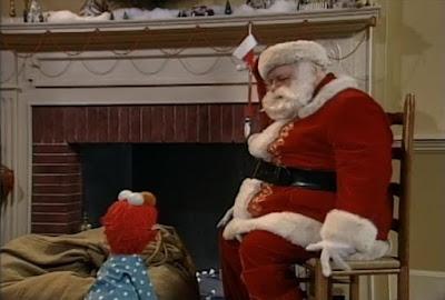 Santa Claus and Elmo. Sesame Street Elmo Saves Christmas