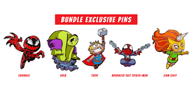 Marvel Made Exclusive Skottie Young Marvel Comics Enamel Pins