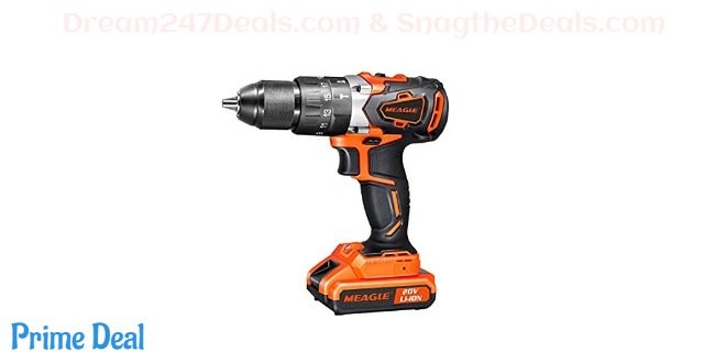 50% OFF 20V MAX Cordless Drill Driver Brushles