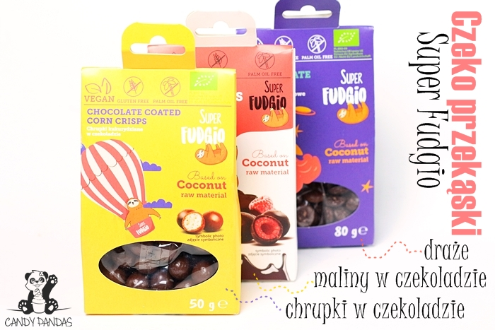 Ekologiczne draże, chrupki i maliny w czekoladzie - Super Fudgio