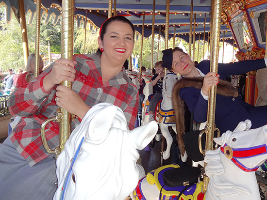Disneyland Pendleton Dapper Day Carousel 1950s 1940s