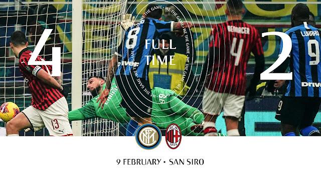 Inter Milan 4-2 Ac Milan, Ibrahimovic And Lukaku Scores In Milan Derby (Video Highlight)