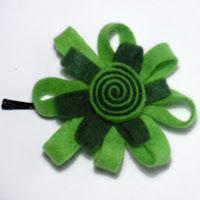 Horquilla fieltro verdes. VENDIDA