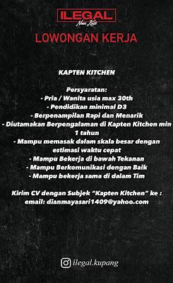 Lowongan Kerja Kapten Kitchen di Nasi Kulit Ilegal Kupang