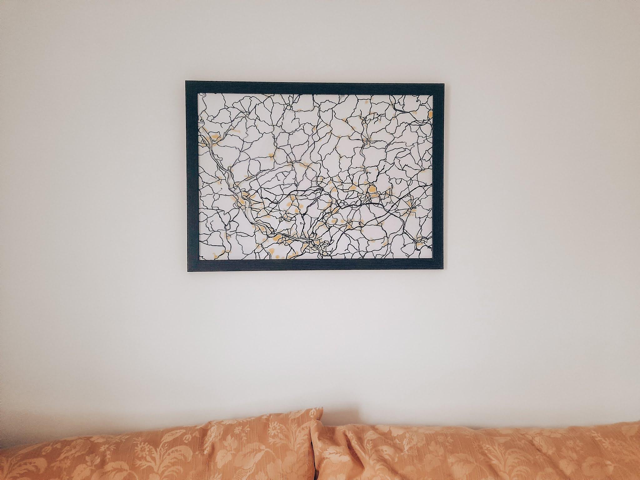 Roadmap Wall Art Homedecoration