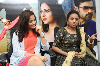 Actress Suma in Black Salwar Suit and Anusuya in orange Dress at winner movie press meet part 2 February 2017 (18).JPG