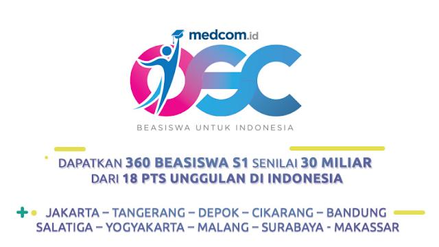 Kompetisi beasiswa online pertama di Indonesia ini diadakan oleh situs informasi  SISWA SMA/MA/SMK KELAS 12 AYO DAFTAR OSC, DAPATKAN  BEASISWA KULIAH S1 DI Perguruan Tinggi Swasta FAVORIT