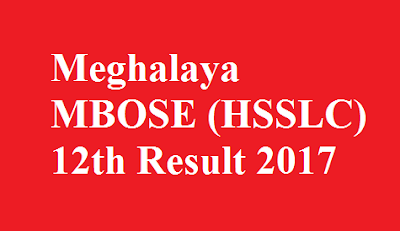 Meghalaya HSSLC 12th Result 2017