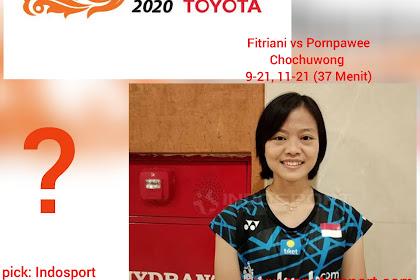 Rekap pertandingan Thailand Masters 2020, Fitriani tumbang