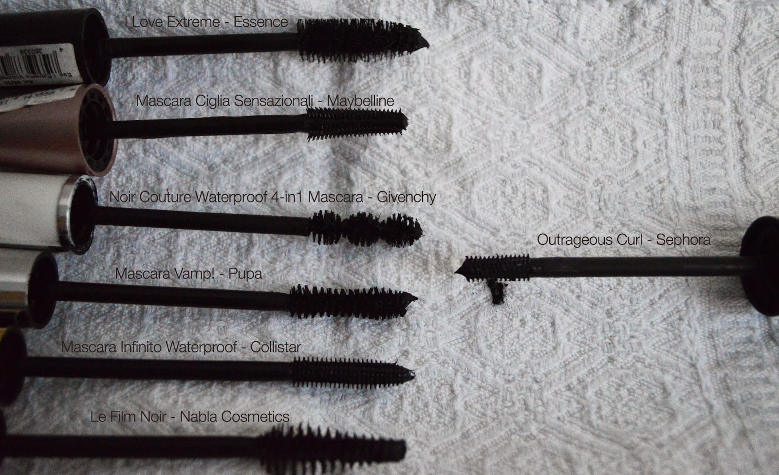 Review, Mascara Outrageous Curl, Sephora, I Love Extre, Essence, Mascara Ciglia Sensazionali, Maybelline, Noir Couture Waterproof 4in1, Givenchy, masca Vamp, Pupa, Mascara Infinito Waterproof, Collistar, Le Film Noir, Nabla Cosmetics,Cherry Diamond Lips