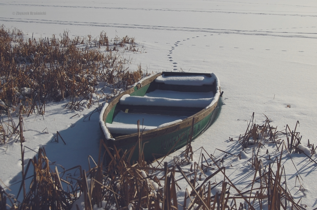 Olsztyn | Jezioro Skanda i historia Ostrzeszewa | Biało bez końca