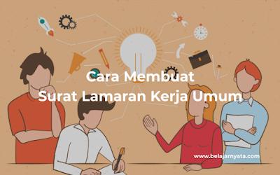 Contoh Surat LAMARAN KERJA UMUM Format Word [ Download dan Edit ]