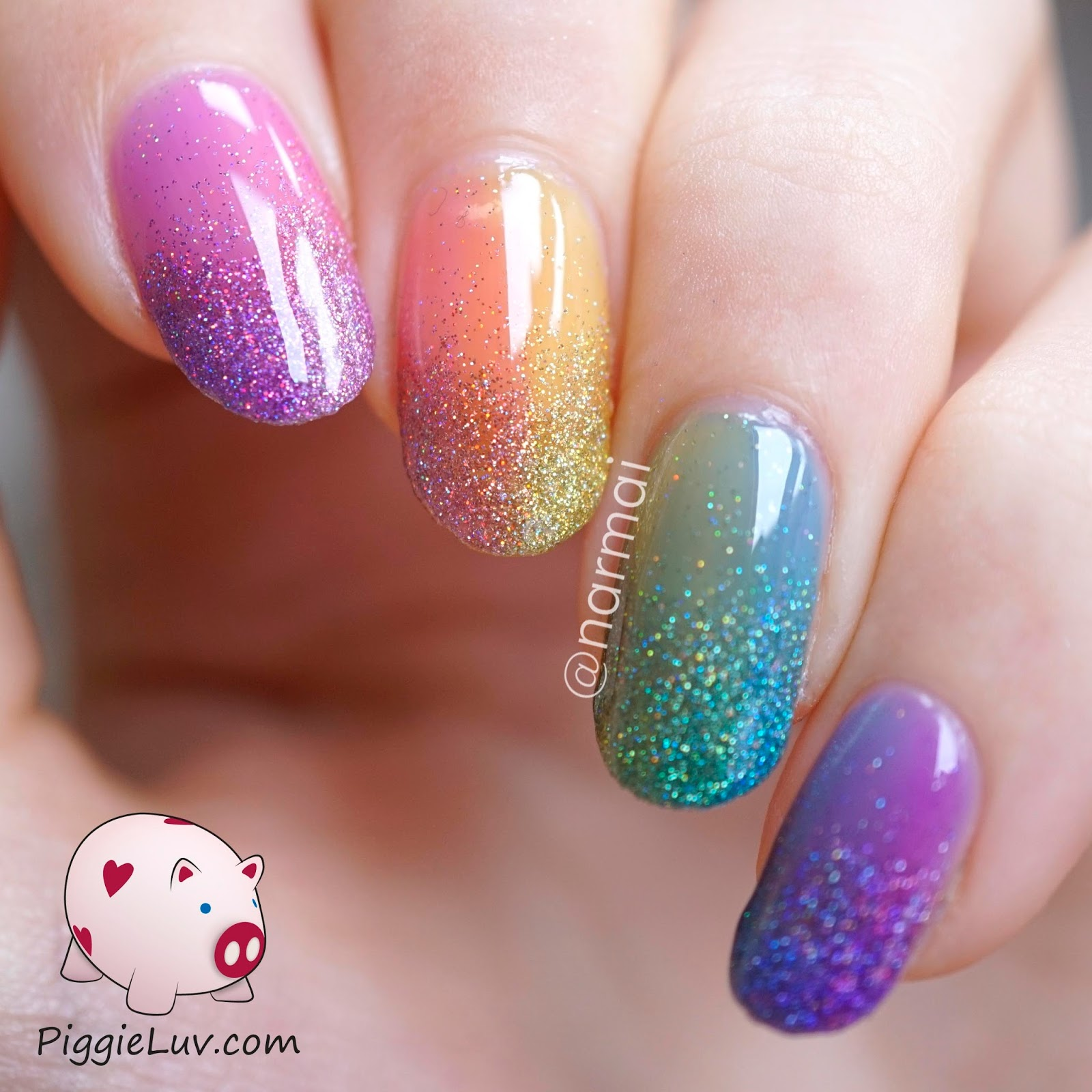 Cool Nail Art: Glitter Nail Art Ideas