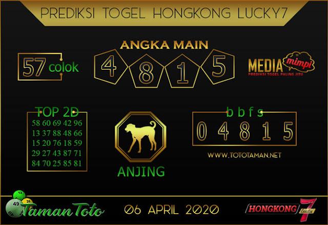 Prediksi Togel HONGKONG LUCKY 7 TAMAN TOTO 06 APRIL 2020