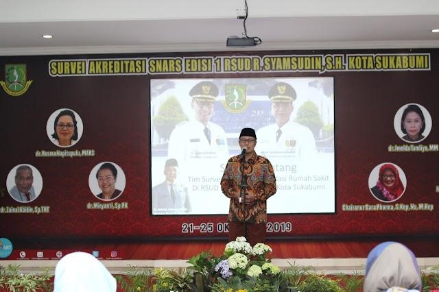 Wali Kota Sukabumi Targetkan RSUD Syamsudin Naik Akreditasi Jadi Paripurna
