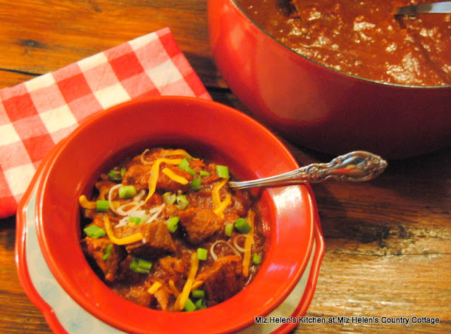 Texas Style Chili at Miz Helen's Country Cottage