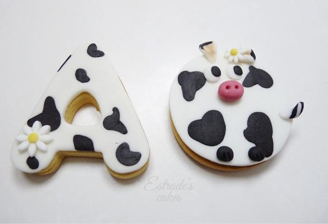 galletas con fondant de vaca - 1