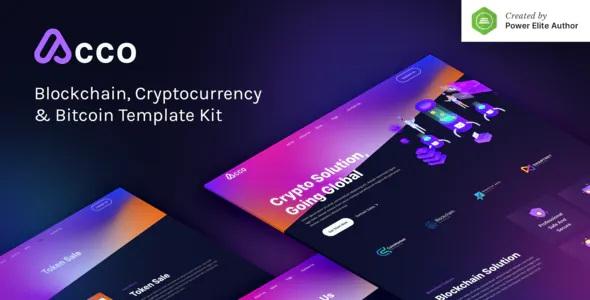 Best Blockchain Cryptocurrency & Bitcoin Elementor Template Kit