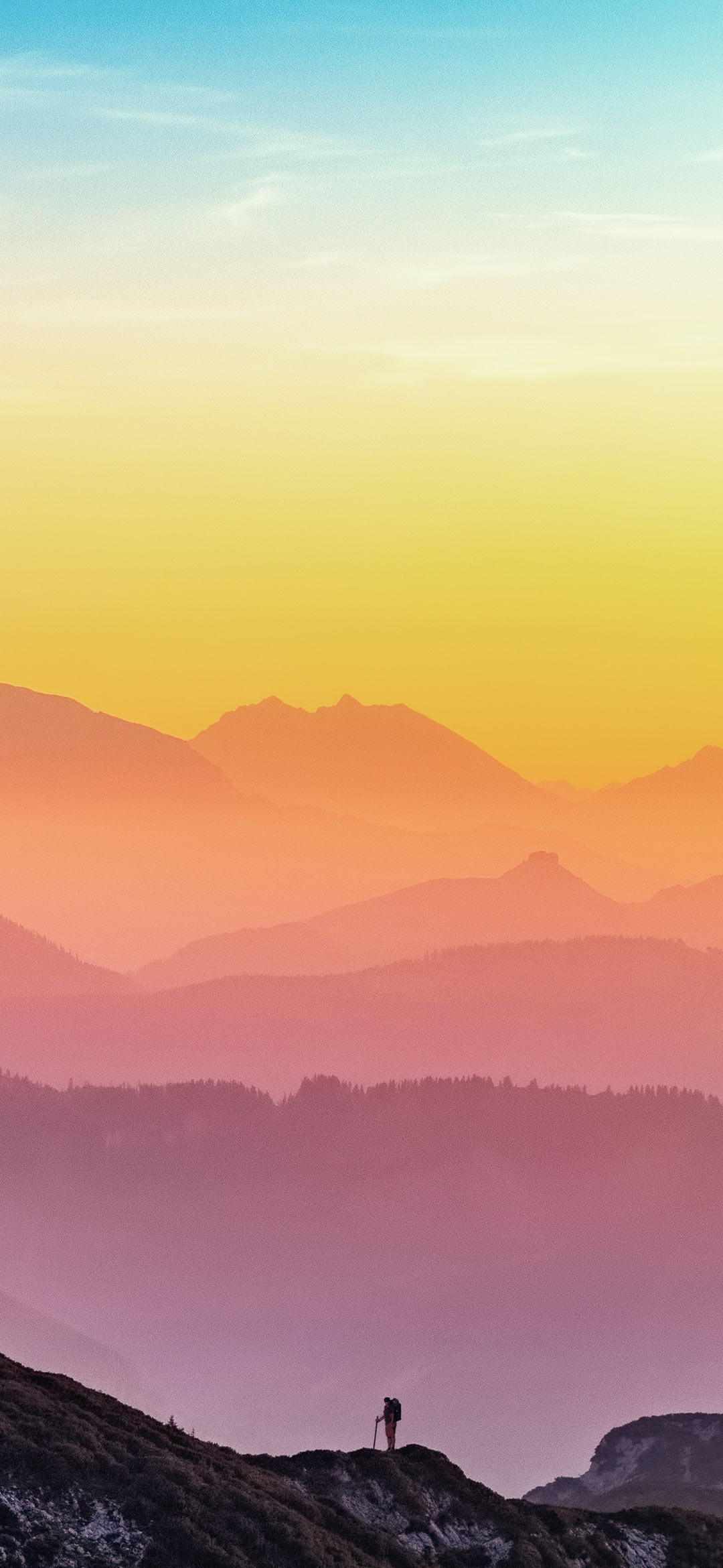 colorful shades of sunset