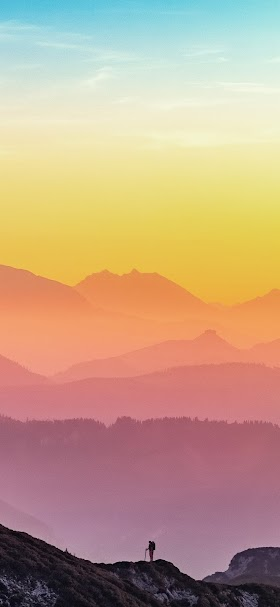 Colorful shades of sunset wallpaper