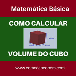 como calcular o volume do cubo
