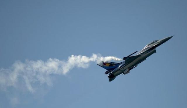 Pesawat Tempur F-16 Belgia Jatuh di Prancis, Pilot Tersangkut di Kabel Listrik