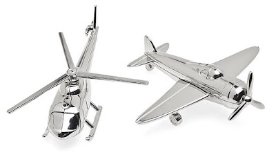 Airplane Chopper Salt and Pepper Set:
