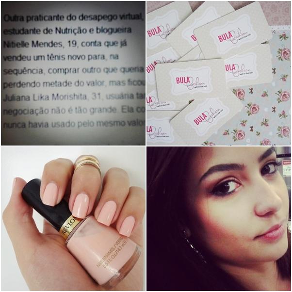 Blogueira Nitielle Mendes Cartão de Visita Esmalte Revlon Peach Petal
