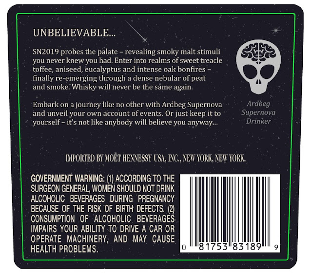 Ardbeg Supernova 2019 back label
