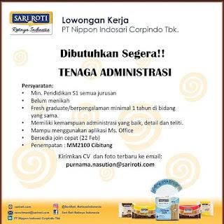 Info Lowongan Kerja Administrasi PT. Nippon Indosari (Sari Roti) Cibitung Bekasi