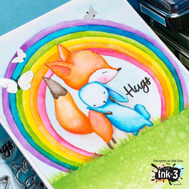 Rainbow Hugs Friendship Card | Using Atelier Inks | Ink On 3