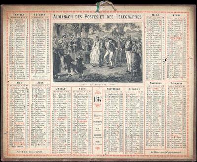 Almanach 1887 Noces d'or